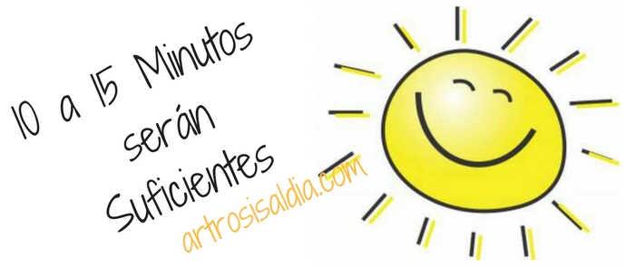 Vitamina D y Artrosis, 10 a 15 Minutos de exposición solar serán Suficientes